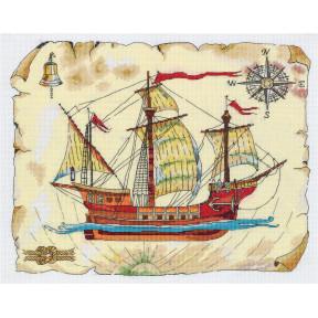 Набор для вышивки крестом Panna Роза ветров КР-7069 фото