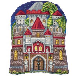 Набор для вышивки крестом Panna Подушка Мой замок ПД-7112 фото