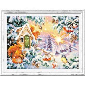 Набор для вышивки крестом Чудесная игла Зимнее утро 110-700 фото
