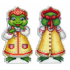 Набор для вышивки крестом МП Студия Лягушка-квакушка Р-480 фото