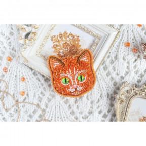 """Набор для вышивания бисером Tela Artis """"Рыжий кот """" Б-112 фото"""