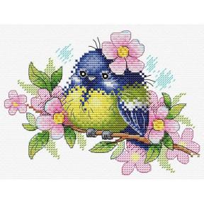 Набор для вышивки крестом МП Студия Романтичная пташка М-554
