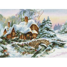 Набор для вышивки крестом Luca-S Зимний пейзаж BU5001 фото