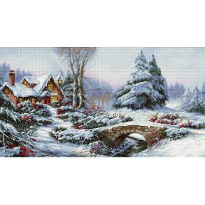 Зимний пейзаж Luca-S набор для вышивания крестом BU5002 фото
