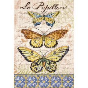 Винтажные крылья le-Papillions LETISTITCH Набор для вышивания LETI 975
