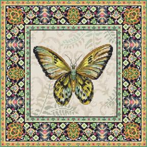 Винтажная Бабочка LETISTITCH Набор для вышивания LETI 981