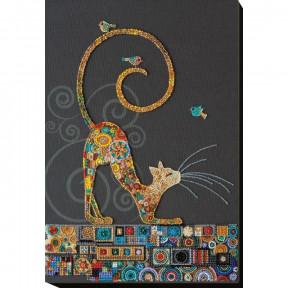 Кошечка Абрис Арт Набор для вышивки бисером АВ-791