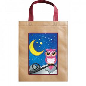 Сова и луна Абрис Арт Набор-сумка для вышивания бисером АСА-006