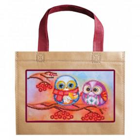 Совы и рябина Абрис Арт Набор-сумка для вышивания бисером АСА-005