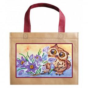Сова и крокусы Абрис Арт Набор-сумка для вышивания бисером АСА-003