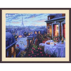 Парижский вечер Мережка Набор для вышивания крестом К-188