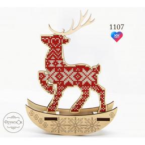 Скандинавский олень Фрузелок Набор для вышивки крестом на деревянной основе 1107