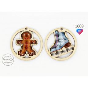 Украшения Фрузелок Набор для вышивки крестом на деревянной основе 1008