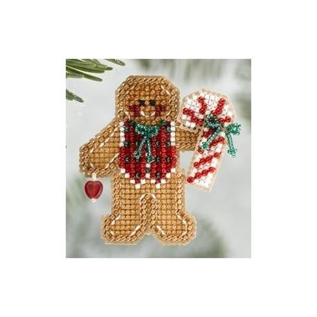 Gingerbread Boy / Пряничный мальчик Mill Hill Набор для вышивания крестом MH186306