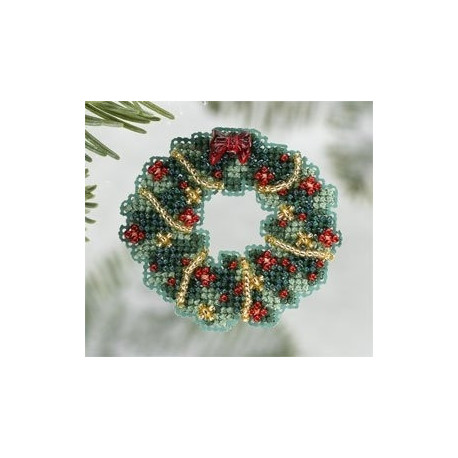 Holly Wreath / Венок падуба Mill Hill Набор для вышивания крестом MH186305
