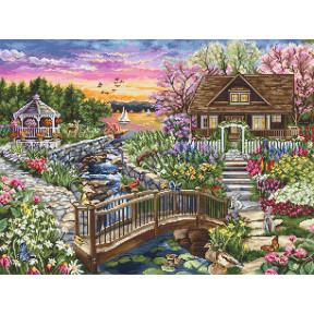 Цветущая весна на озере Luca-S Набор для вышивания крестом B2379