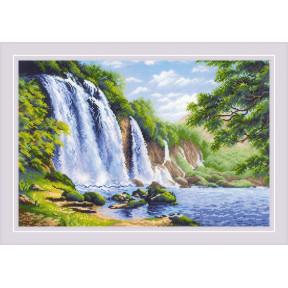 Шум водопада Риолис Набор для вышивания крестом 1908