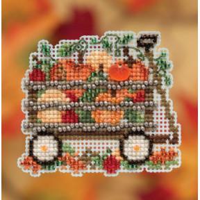 Harvest Wagon / Тележка с урожаем Mill Hill Набор для вышивания крестом MH181924