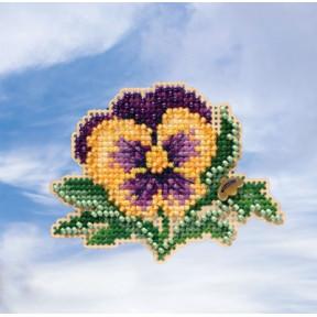 Tricolor Pansy / Цветок Mill Hill Набор для вышивания крестом MH181911