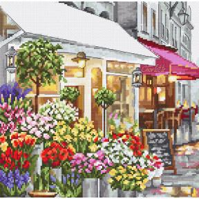 Цветочный магазин LETISTITCH Набор для вышивания крестом LETI 986