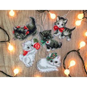 Рождественские котята LETISTITCH Набор для вышивания крестом LETI 987