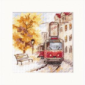 """Набор для вышивки крестом Алиса """"Осень в городе. Трамвай"""" 0-217"""