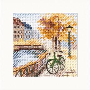 """Набор для вышивки крестом Алиса """"Осень в городе. Набережная"""" 0-219"""