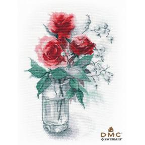Розы и снежноягодник Овен Набор для вышивки крестом 1353о