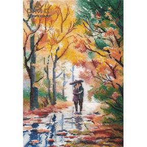Осенняя прогулка Овен Набор для вышивки крестом 1354о