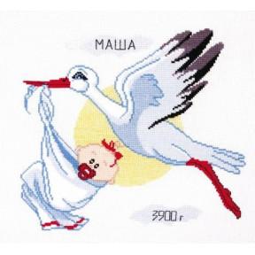Метрика для девочки Овен Набор для вышивки крестом 367о