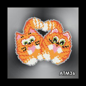 Коты неразлучники ArtSolo Набор алмазной живописи. Магнит АТМ36