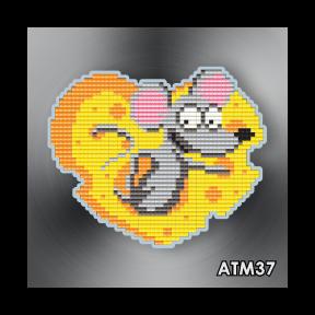 Сырное сердечко ArtSolo Набор алмазной живописи. Магнит АТМ37