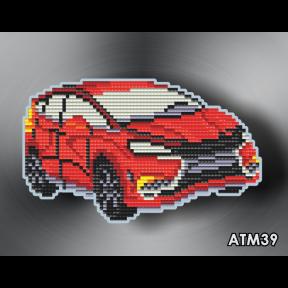 Автомобиль ArtSolo Набор алмазной живописи. Магнит АТМ39