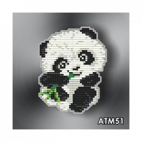 Панда с бамбуком ArtSolo Набор алмазной живописи. Магнит АТМ51