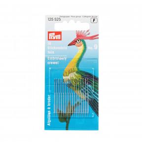 Тонкие иглы для вышивки № 9 (серебристого цвета) Prym 125525