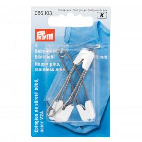 Детские булавки 55мм (белого цвета) Prym 086103