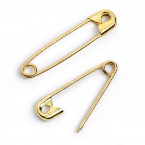 Английские булавки №2 (38мм) золотого цвета Prym 071276