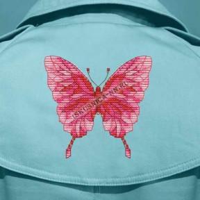 """Набор для вышивания крестом Искусница """"Розовая бабочка""""ВК08"""