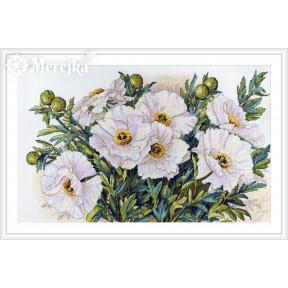 Белые цветы Мережка Набор для вышивания крестом К-118