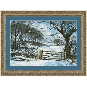 Набор для вышивания Kustom Krafts 20367 У зимних ворот фото