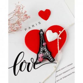 Сердце Франции Абрис Арт Набор для вышивки бисером украшения на натуральном художественном холсте AD-099