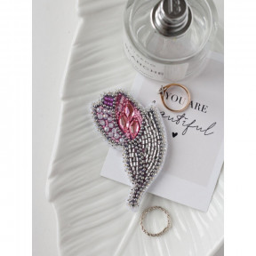 Тюльпан Абрис Арт Набор для вышивки бисером украшения на натуральном художественном холсте AD-100