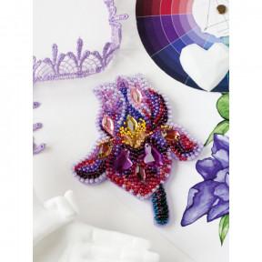 Аметистовый ирис Абрис Арт Набор для вышивки бисером украшения на натуральном художественном холсте AD-200