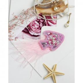 Маленькая рыбка Абрис Арт Набор для вышивки бисером украшения на натуральном художественном холсте AD-201