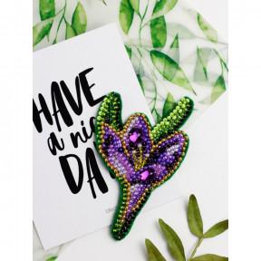 Крокус Абрис Арт Набор для вышивки бисером украшения на натуральном художественном холсте AD-203