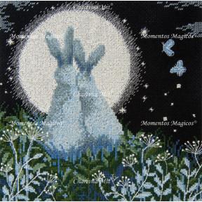Лунные зайцы Набор для вышивания крестом Чарівна Мить М-458