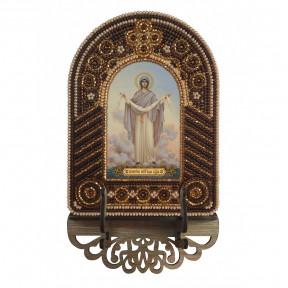 Покров Пресвятой Богородицы Набор для создания иконы с вышитой рамкой-киотом Нова Слобода ВК2009