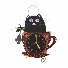 Кофейное утро Набор для вышивки часов Нова Слобода РТ7002