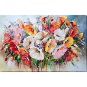 Нежные цветы Набор для вышивки бисером Абрис Арт AB-805