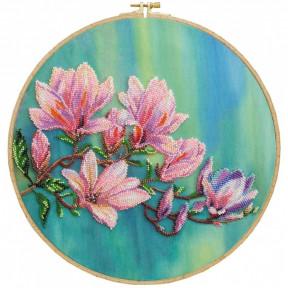 Магнолии цветут Набор для вышивки бисером Абрис Арт AB-806